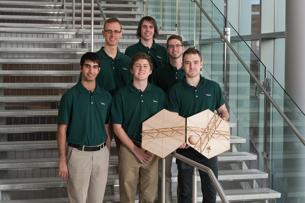 Team shows prototype created for the BIG Idea competition in 2017