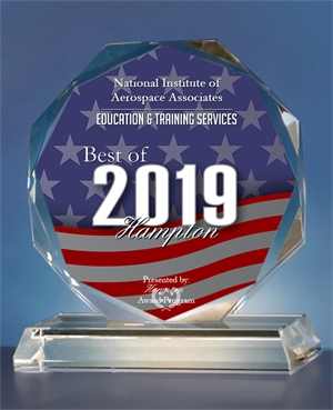 2019 Best of Hampton Award Crystal Trophy